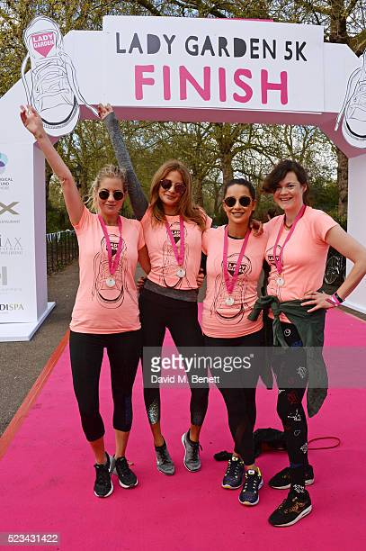 Marissa Montgomery Millie Mackintosh Roxie Nafousi and Jasmine Guinness attend the Lady Garden 5K Fun Run in aid of Silent No More Gynaecological...