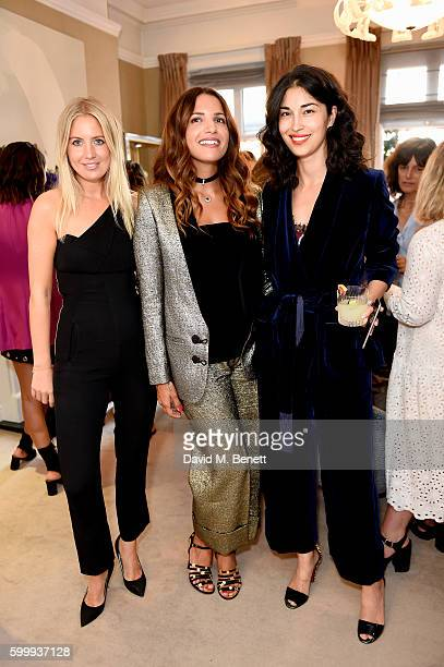 Marissa Montgomery Racil Chalhoub and Caroline Issa attend a cocktail reception hosted by RACIL and MATCHESFASHIONCOM to celebrate the launch of...