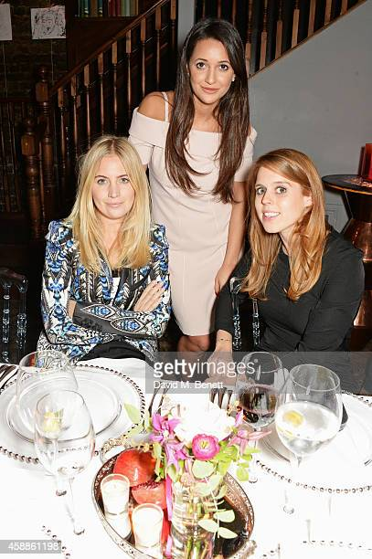 Marissa Montgomery Roxie Nafousi and Princess Beatrice of York attend as evening wear label TOUJOURI presents their SS15 collection with an intimate...