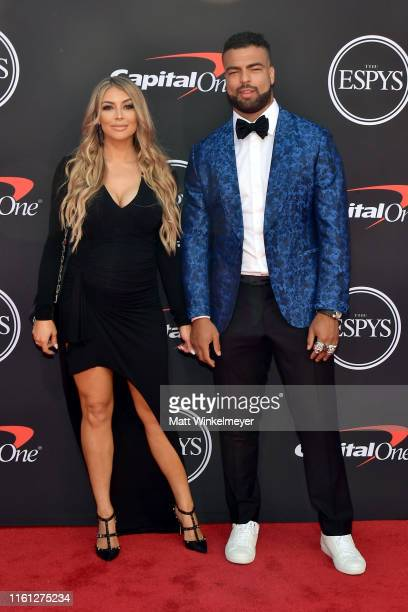 Marissa Powell and Kyle Van Noy attend The 2019 ESPYs at Microsoft Theater on July 10, 2019 in Los Angeles, California.
