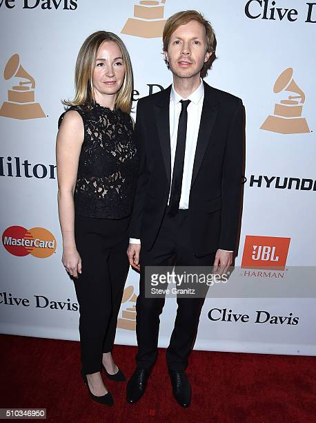 Marissa Ribisi and Beck arrives at the 2016 PreGRAMMY Gala And Salute to Industry Icons Honoring Irving Azoff at The Beverly Hilton Hotel on February...