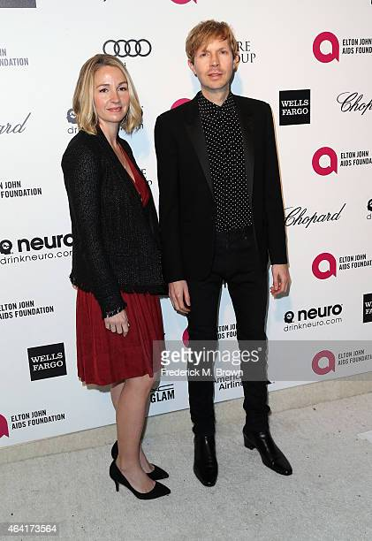 Marissa Ribisi and musician Beck attend the 23rd Annual Elton John AIDS Foundation's Oscar Viewing Party on February 22 2015 in West Hollywood...
