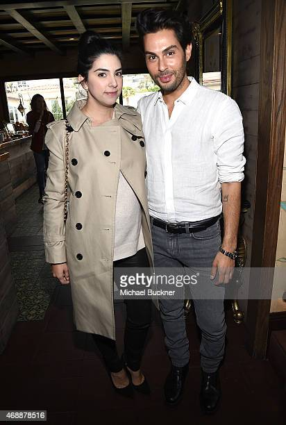 Marissa Runyon and Joey Maalouf attends The Glam App's Glamchella at the Petit Ermitage on April 7, 2015 in Los Angeles, California.