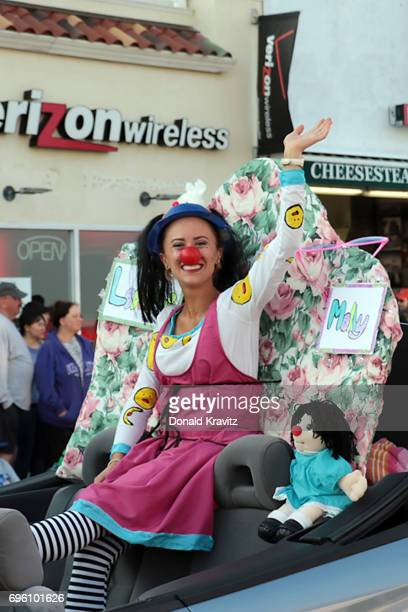 """Marissa Sanders, Miss Cape Resort participates in the """"Television Comes Alive On The Boardwalk"""" at the 2017 Miss New Jersey Pageant parade on June..."""