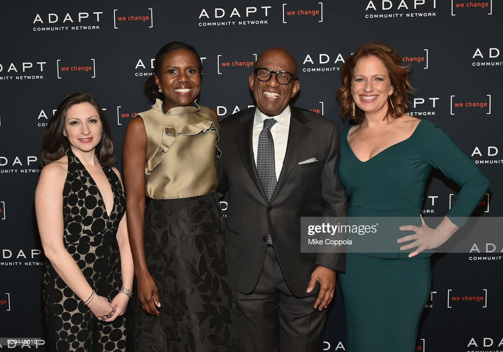 Marissa Shorenstein, Deborah Roberts, Al Roker, and Amy Wright attend the Adapt Leadership Awards Gala 2018 at Cipriani 42nd Street on March 8, 2018 in New York City.