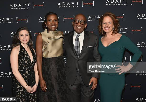 Marissa Shorenstein Deborah Roberts Al Roker and Amy Wright attend the Adapt Leadership Awards Gala 2018 at Cipriani 42nd Street on March 8 2018 in...