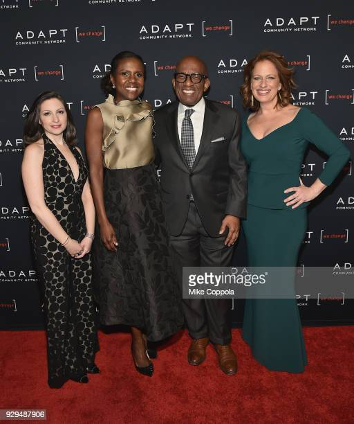 Marissa Shorenstein Deborah Roberts Al Roker attend the Adapt Leadership Awards Gala 2018 at Cipriani 42nd Street on March 8 2018 in New York City