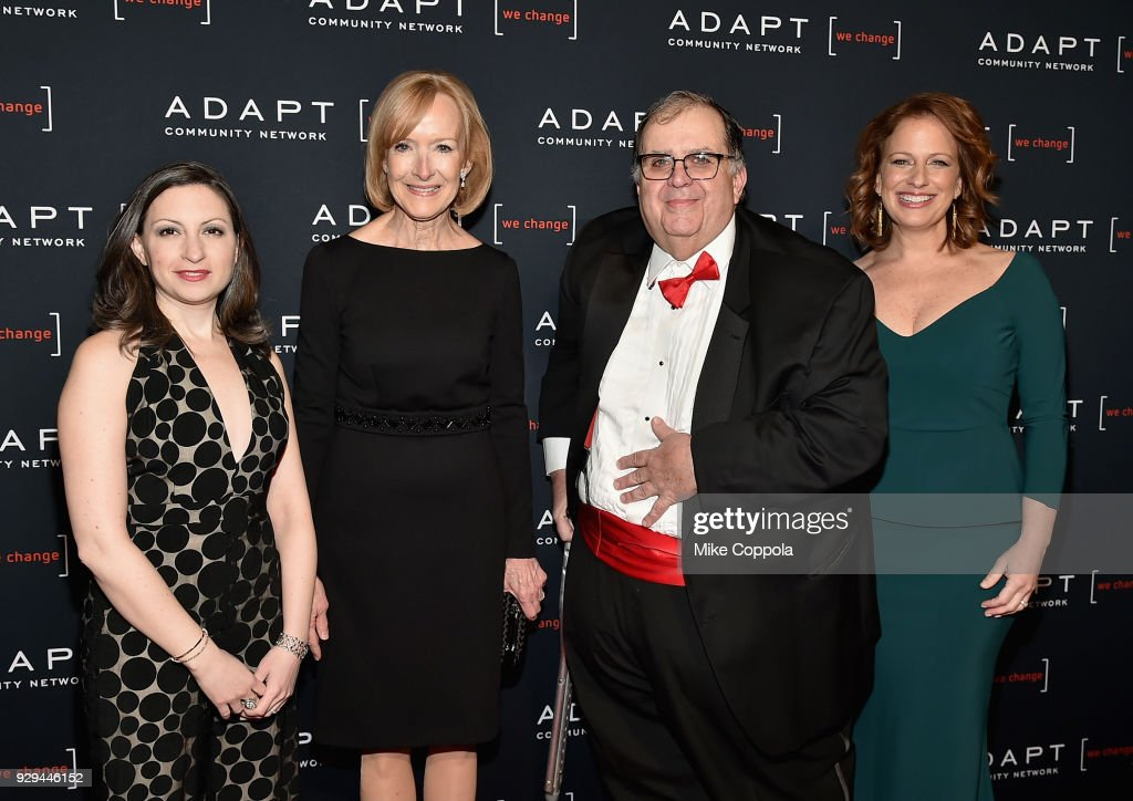 Marissa Shorenstein, Judy Woodruff, Ed Matthews, and Amy Wright attend the Adapt Leadership Awards Gala 2018 at Cipriani 42nd Street on March 8, 2018 in New York City.