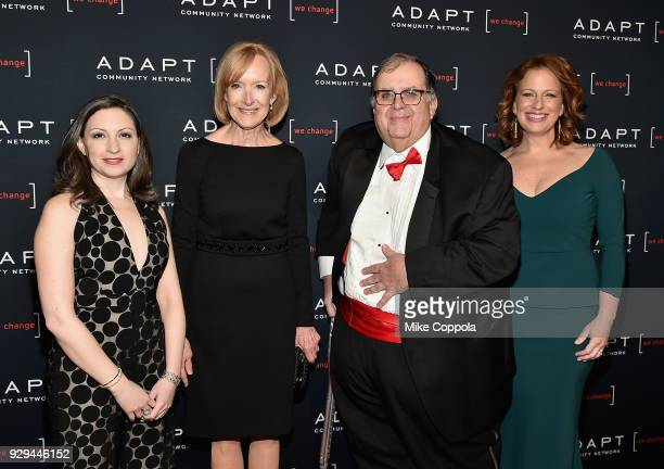 Marissa Shorenstein Judy Woodruff Ed Matthews and Amy Wright attend the Adapt Leadership Awards Gala 2018 at Cipriani 42nd Street on March 8 2018 in...