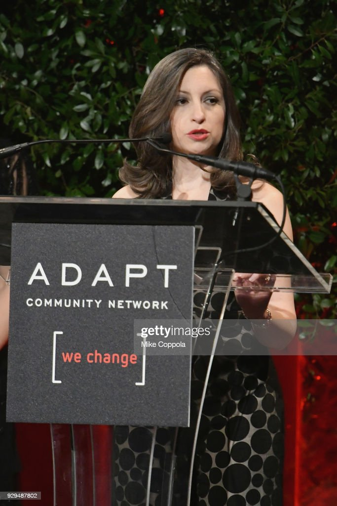 Marissa Shorenstein speaks during the Adapt Leadership Awards Gala 2018 at Cipriani 42nd Street on March 8, 2018 in New York City.