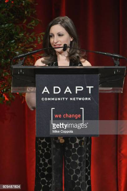 Marissa Shorenstein speaks during the Adapt Leadership Awards Gala 2018 at Cipriani 42nd Street on March 8 2018 in New York City