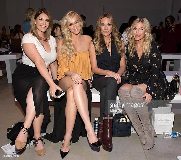 Marissa Stacey WWE Diva Summer Rae Cary Deuber and Stephanie Hollman attend the Leanne Marshall fashion show during New York Fashion Week September...