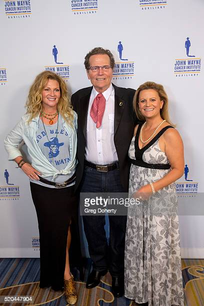 Marissa Wayne Chairman of the John Wayne Cancer Institute Patrick Wayne and Melanie Wayne attend the John Wayne Odyssey Ball at the Beverly Wilshire...