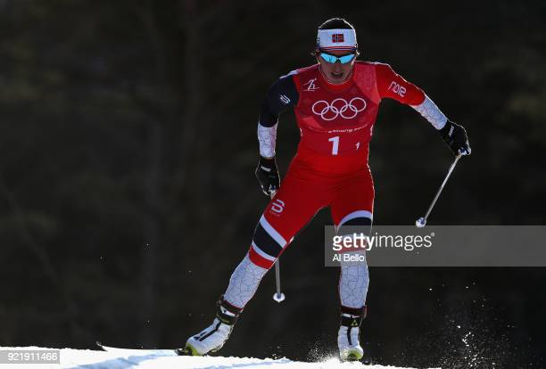Marit Bjoergen of Norway competes during the Cross Country Ladies' Team Sprint Free semi final on day 12 of the PyeongChang 2018 Winter Olympic Games...
