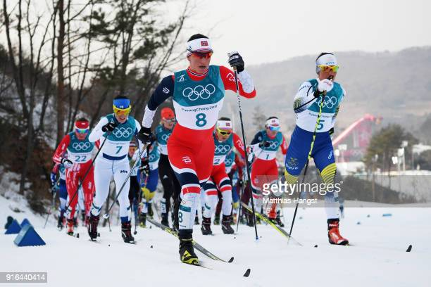 Marit Bjoergen of Norway competes during the Ladies Cross Country Skiing 75km 75km Skiathlon on day one of the PyeongChang 2018 Winter Olympic Games...