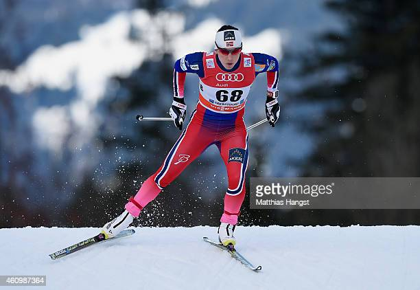 Marit Bjoergen of Norway competes during the Women's Prologue 3 km Individual Free event for the FIS Cross Country World Cup Tour de Ski on January...