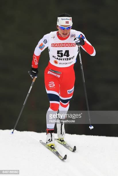 Marit Bjoergen of Norway competes in the Women's 10km Cross Country during the FIS Nordic World Ski Championships on February 28 2017 in Lahti Finland