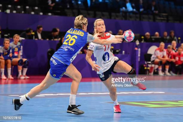 Marit Rosberg Jacobsen of Norway during the EHF Euro match between Sweden and Norway on December 14 2018 in Paris France
