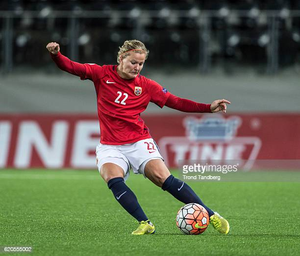 Marit Sandvei of Norway during Norway v Sweden Women International Friendly at S¿r Arena on October 24 2016 in Kristiansand Norway
