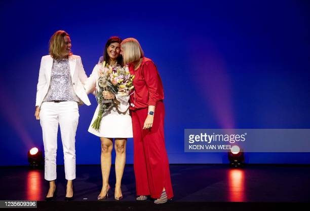 Marit van Egmond , CEO of Albert Heijn-Ahold Delhaize, and Ans Rietstra , Member of the Executive Board and Chief operational officer of ProRail,...