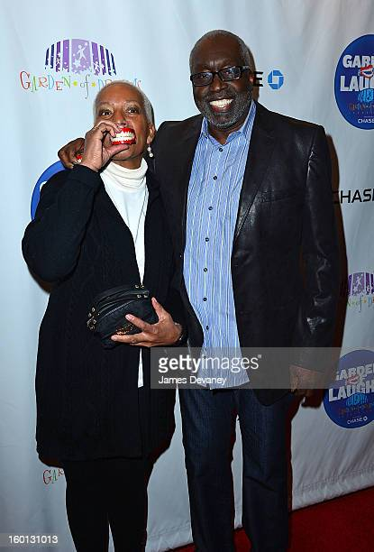 Marita Green and Earl Monroe attend Garden Of Laughs benefit at Madison Square Garden on January 26 2013 in New York City