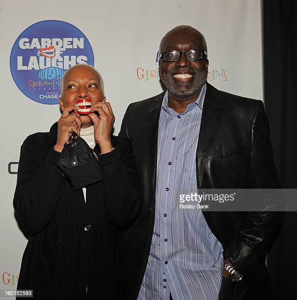 Marita Green and Earl Monroe attends Garden Of Laughs Benefit at Madison Square Garden on January 26 2013 in New York City