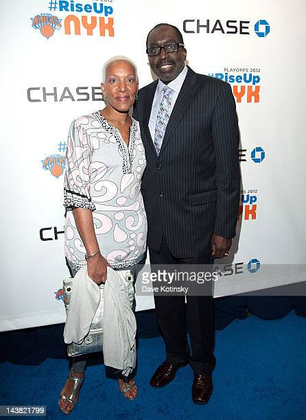 Marita Green and Earl Monroe attends the New York Knicks 2012 Playoff Celebration at Madison Square Garden on May 3 2012 in New York City
