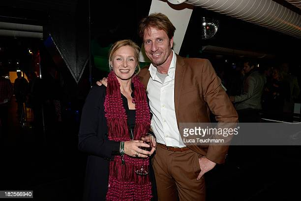 """Marita Marschall and Guest attend the """"Seelenangst"""" book reading at the Memberclub Privileg on September 30, 2013 in Hamburg, Germany."""