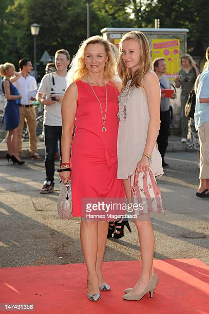 Marita Marschall and her daughter Zoe-Marie attend the 'Tele 5 Director's Cut' during the Munich Film Festival at the Praterinsel on June 30, 2012 in...
