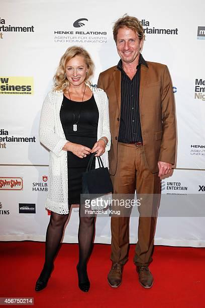 Marita Marschall and Pius Schmitt attend the Media Entertainment Night 2014 at Atlantik Hotel on October 06 2014 in Hamburg Germany