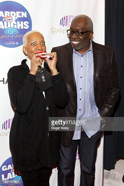 Marita Monroe and Earl Monroe attend Garden Of Laughs benefit at Madison Square Garden on January 26 2013 in New York City