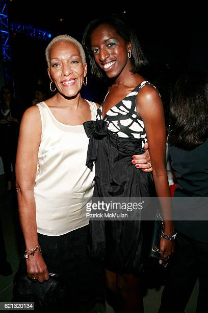 Marita Monroe and guest attend SPORTS MUSEUM OF AMERICA OPENING NIGHT GALA at SPORTS MUSEUM OF AMERICA on May 6 2008 in New York City