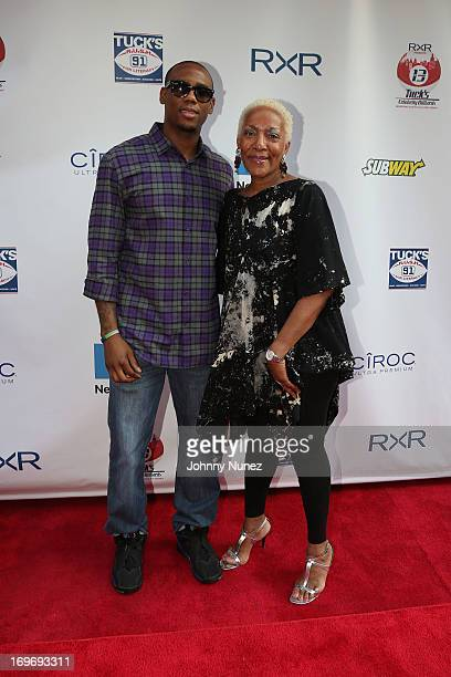 Marita Monroe and guest attend the NY Giants Justin Tuck's 5th Annual Celebrity Billiards Tournament on May 30 2013 in New York City