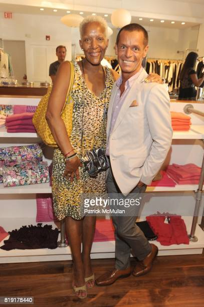 Marita Monroe and Nielson Cruz attend CARLOS FALCHI JEFFREY THORPE Host A TwoDay Presentation at Magaschoni on July 24 2010 in East Hampton NY
