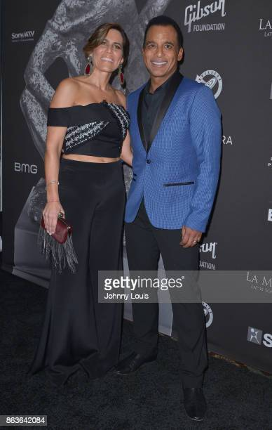 Maritere and Jon Secada attend the black carpet of The MUSA Awards Latin Songwriters Hall of Fame at James L Knight Center on October 19 2017 in...