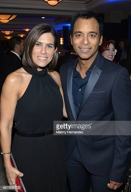 Maritere Secada and Jon Secada attends Latin Songwriters Hall Of Fame La Musa Awards at Ritz Carlton South Beach on October 18 2014 in Miami Beach...