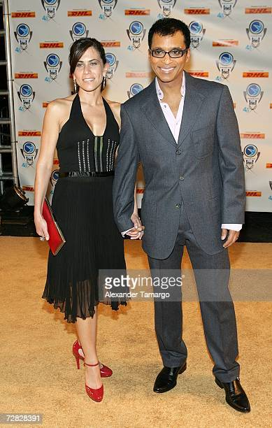 Maritere Secada and Jon Secada pose at the 4th Annual Premios Fox Sports Awards held at the Jackie Gleason Theater for the Performing Arts on...