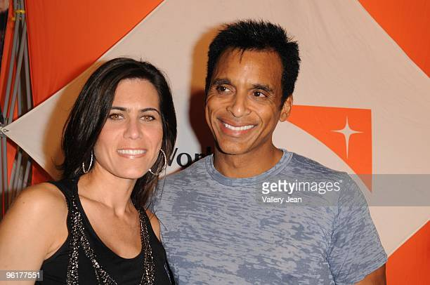 Maritere Vilar and Singer Jon Secada attend Operation Hope For Haiti benefit at Bongos on January 24 2010 in Miami Florida