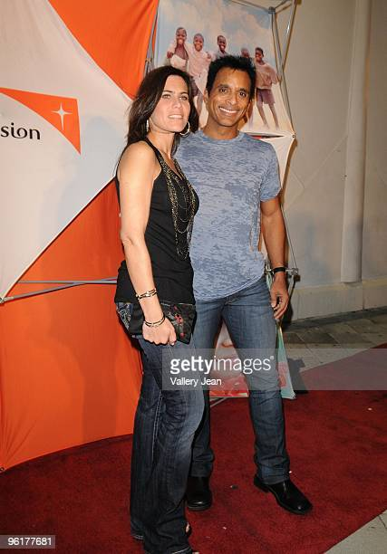 Maritere Vilar and Singer Jon Secada attends Operation Hope For Haiti benefit at Bongos on January 24 2010 in Miami Florida