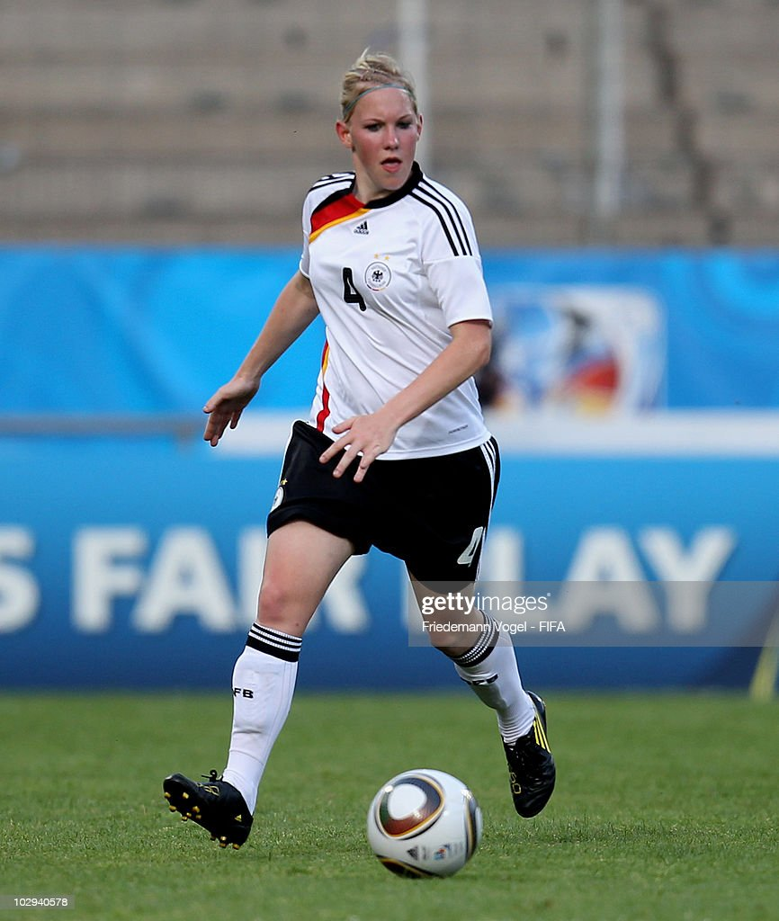 Marith Priessen of Germany in action during the FIFA U20 Women's Worldd Cup Group A match between Germany and Colombia at the FIFA U-20 Women's World Cup stadium on July 16, 2010 in Bochum, Germany.