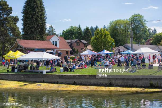 maritime gig harbor festival - film festival stock pictures, royalty-free photos & images