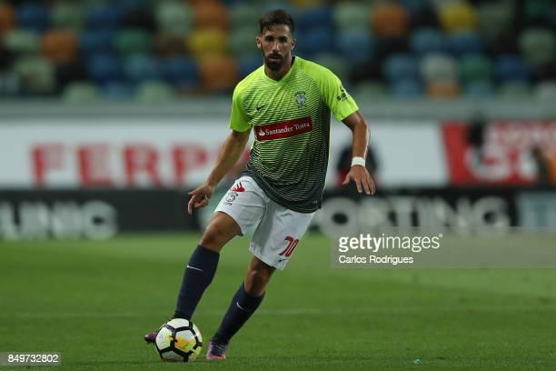 Maritimo defender Cristiano Gomes from Portugal during the match between Sporting CF v CS Maritimo for the Taca da Liga 2017/2018 at Estadio do...