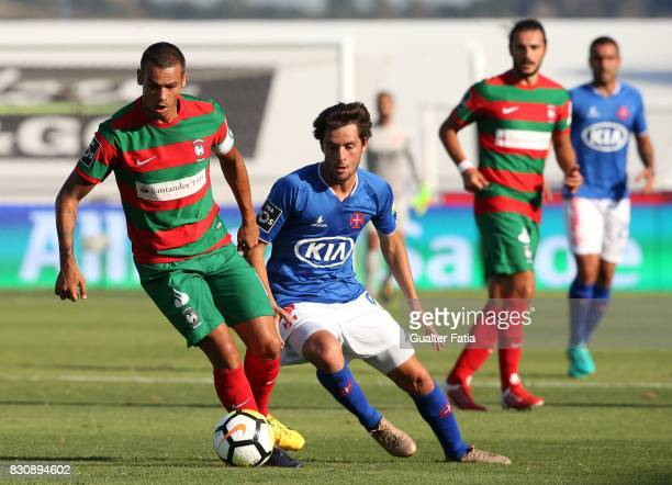 Maritimo forward Edgar Costa from Portugal with CF Os Belenenses midfielder Filipe Chaby from Portugal in action during the Primeira Liga match...