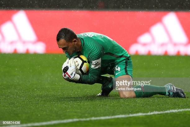 Maritimo goalkeeper Charles Silva from Brazil during the Portuguese Primeira Liga match between SL Benfica and CS Maritime at Estadio da Luz on March...
