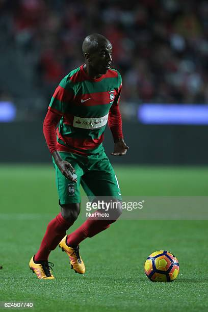 Maritimo's defender Samuel Santos from Brazil during Portuguese Cup match between SL Benfica v CS Maritimo at Luz Stadium in Lisbon on November 19...