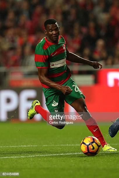 Maritimo's forward Donald Djousse from Camaroes during the SL Benfica v CS Maritimo Portuguese Cup round 4 match at Estadio da Luz on November 19...