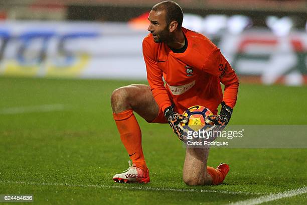 Maritimo's goalkeeper Eduardo Gottardi from Brazil during the SL Benfica v CS Maritimo Portuguese Cup round 4 match at Estadio da Luz on November 19...