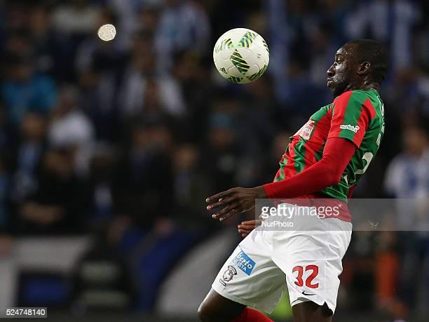 Maritimo's Senegal forward M Marega during the Premier League 2015/16 match between FC Porto and CS Mar��timo at Drag��o Stadium in Porto on January...
