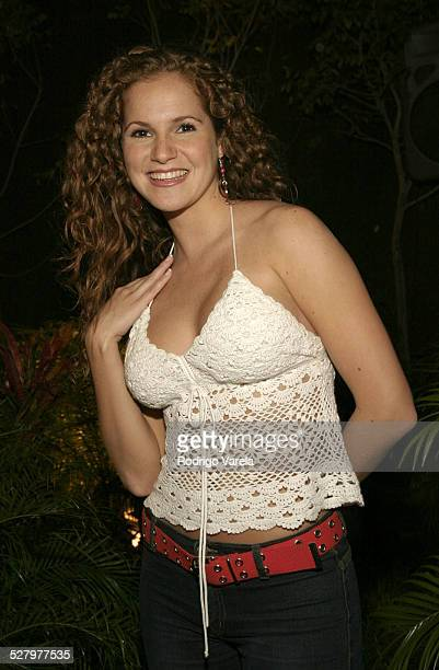 Maritza Bustamante during Angel Rebelde Telenovela/Soap Opera Photocall at Fono Video Studios in Miami Florida United States
