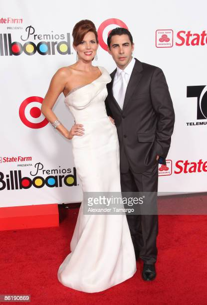 Maritza Rodriguez and Nicolas Felizola arrive at the 2009 Billboard Latin Music Awards at Bank United Center on April 23 2009 in Miami